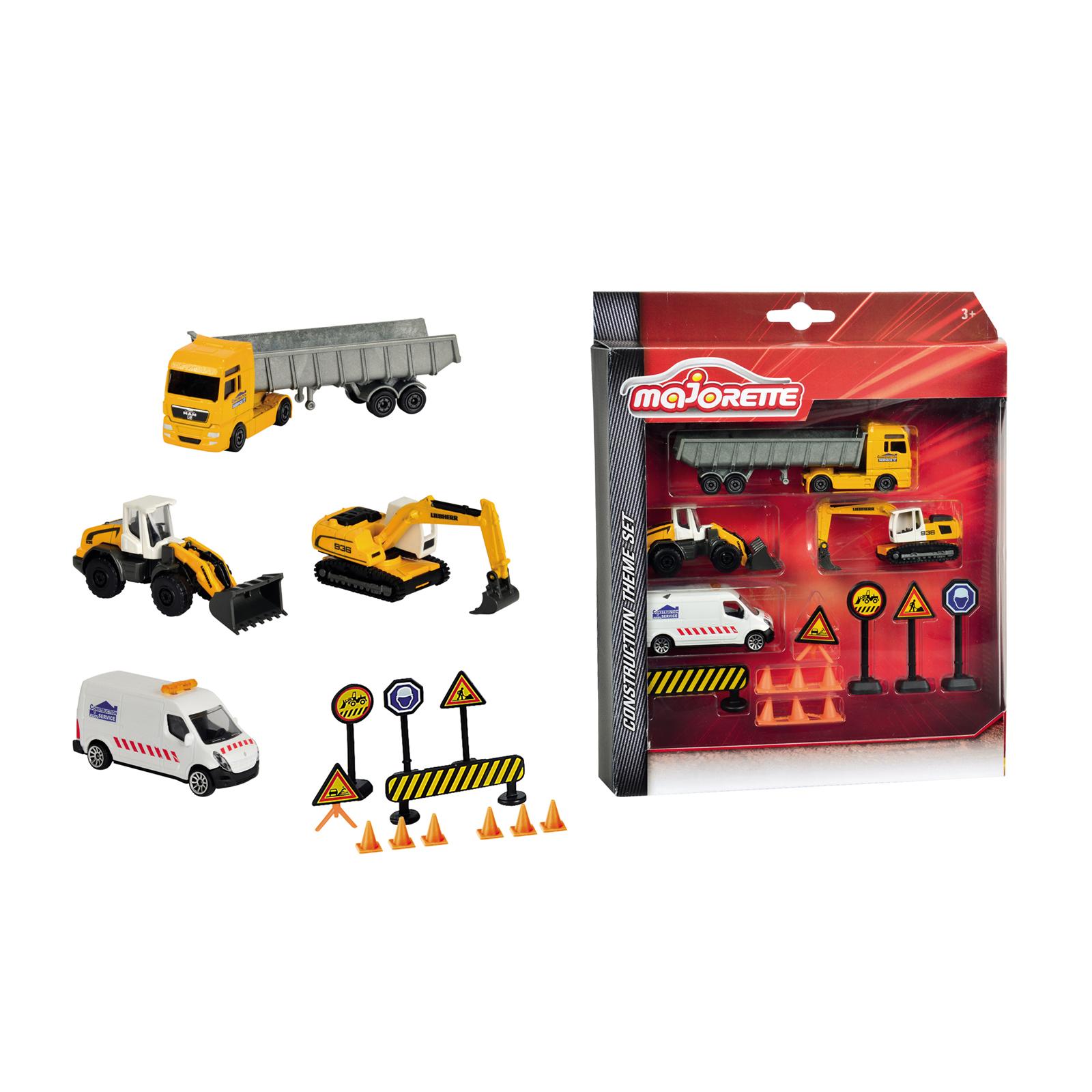 Набор строительной техники и дорожных знаковНаборы машинок<br>Набор строительной техники и дорожных знаков<br>