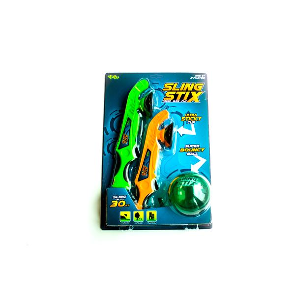 Набор Sling Stix - 2 устройства для запуска с присоской и мячик попрыгунчикРазное<br>Набор Sling Stix - 2 устройства для запуска с присоской и мячик попрыгунчик<br>