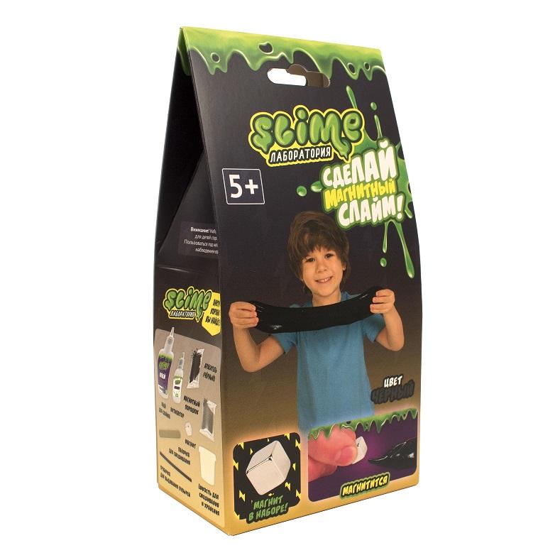 Купить Набор для мальчиков малый из серии Slime Лаборатория, черный магнитный, 100 гр.