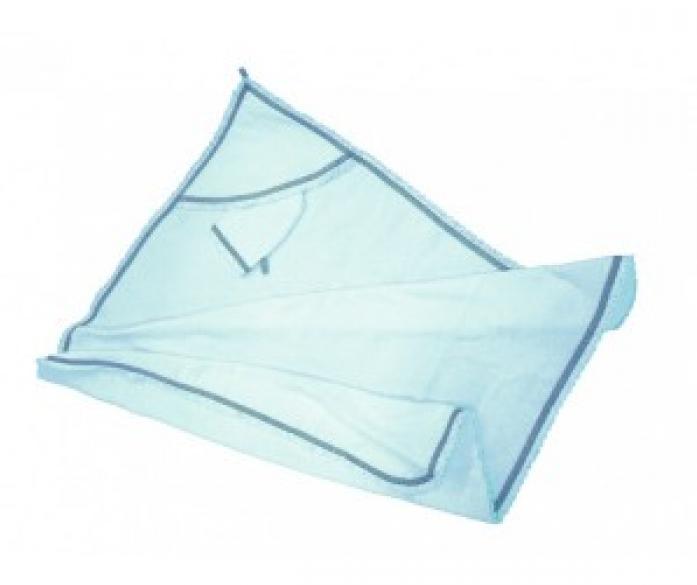 Пеленка-полотенце Премиум в комплекте с варежкой, размер 96 х 96 см., голубая - Ванная комната и гигиена, артикул: 168755