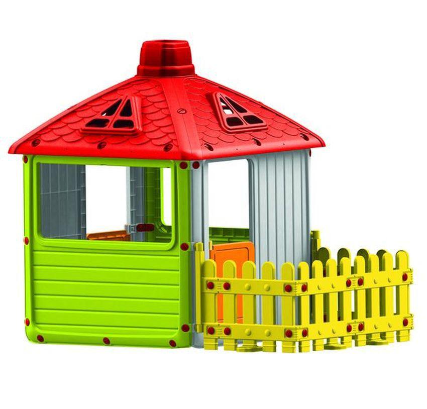 Игровой домик для улицы - Городской дом с ограждением, Dolu  - купить со скидкой