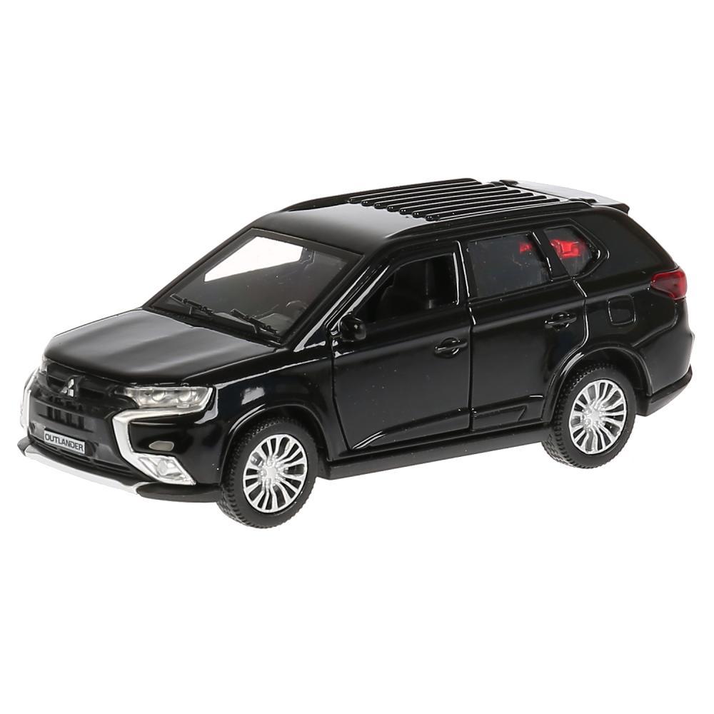 Купить Модель Mitsubishi Outlander, 12 см, открывающиеся двери, инерционная, черный, Технопарк