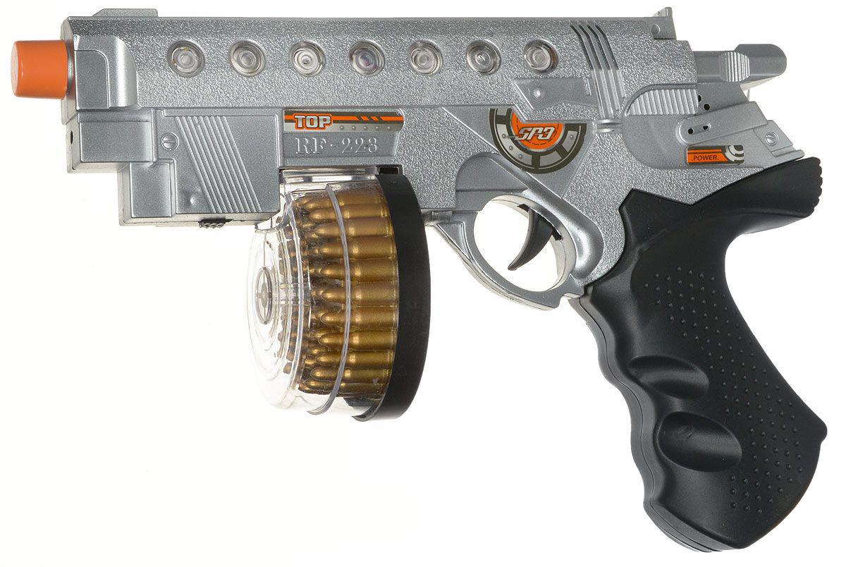 Пистолет штурмовой, электромеханический, со световыми и звуковыми эффектамиАвтоматы, пистолеты, бластеры<br>Пистолет штурмовой, электромеханический, со световыми и звуковыми эффектами<br>
