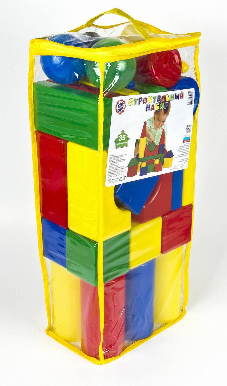 Набор строительных кубиков, 35 элементовКонструкторы других производителей<br>Набор строительных кубиков, 35 элементов<br>
