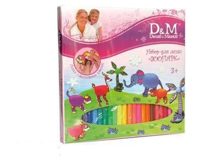 Купить Творческий набор для лепки Зоопарк, Docha&Mama