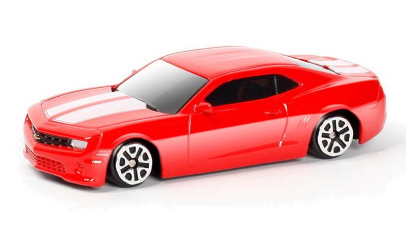 Купить Металлическая машина - Chevrolet Camaro, 1:64, красный, RMZ City