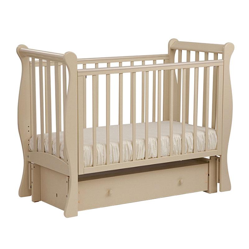 Кровать детская Лель АБ 21.3 Лаванда маятник продольный, слоновая кость