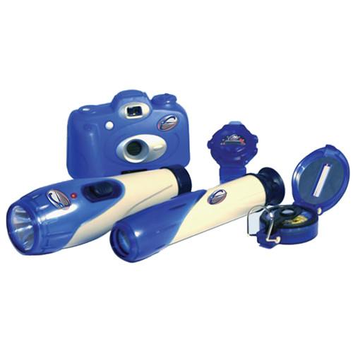 Детский набор путешественника : фонарь, часы, фотоаппарат, подзорная труба и компас от Toyway