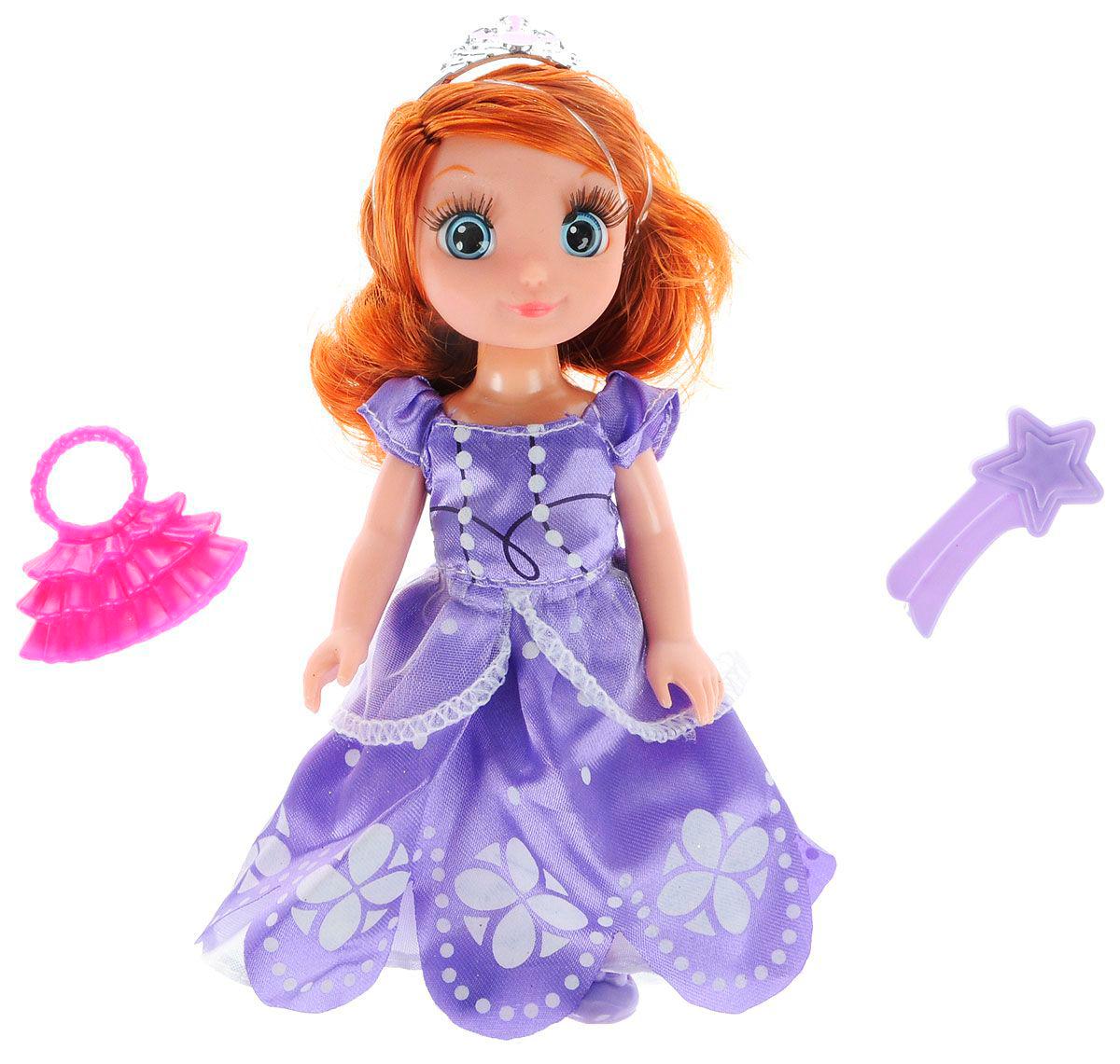 Кукла - Disney - Принцесса София, 15 см озвученная с набором одеждыСофия Прекрасная<br>Кукла - Disney - Принцесса София, 15 см озвученная с набором одежды<br>