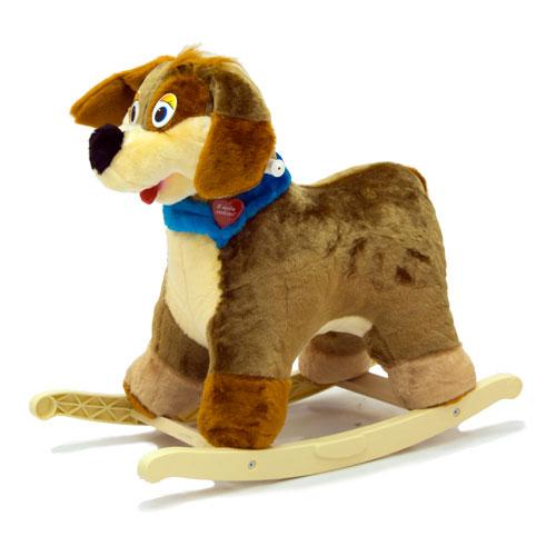 Меховая качалка. Собака-весельчакДетские кресла-качалки<br>Меховая качалка. Собака-весельчак<br>