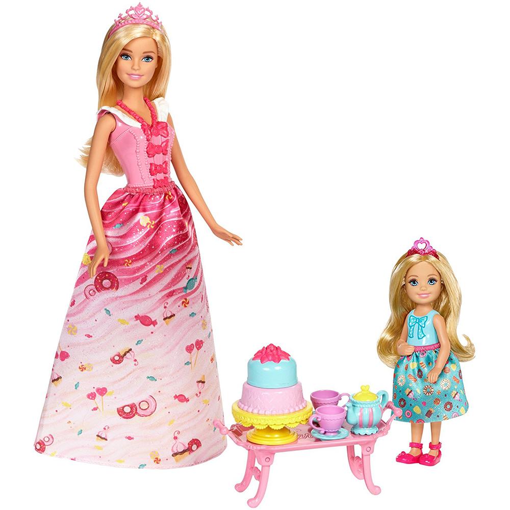 Игровой набор Barbie - Чаепитие в СладкоградеКуклы Barbie (Барби)<br>Игровой набор Barbie - Чаепитие в Сладкограде<br>