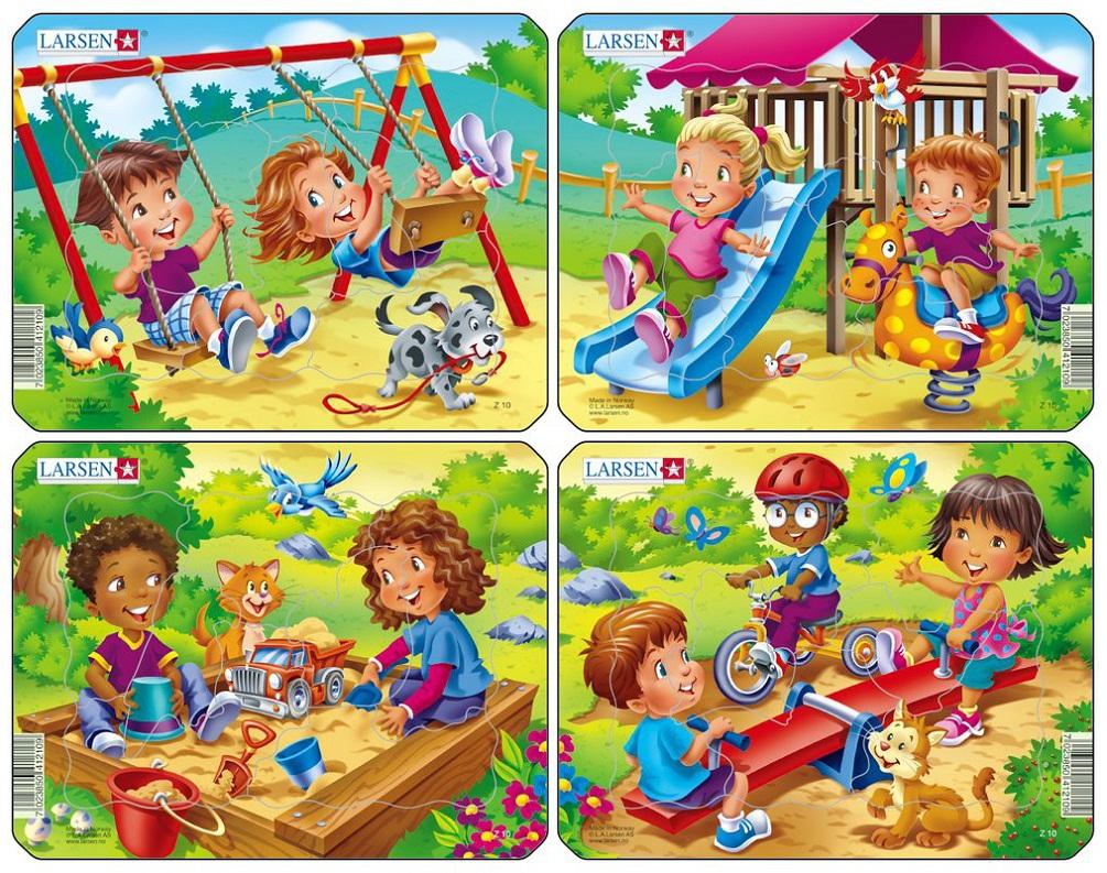 Пазл - Детская игровая площадка, 7 элементов