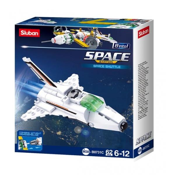 Купить Конструктор Космический корабль, 62 детали, Sluban