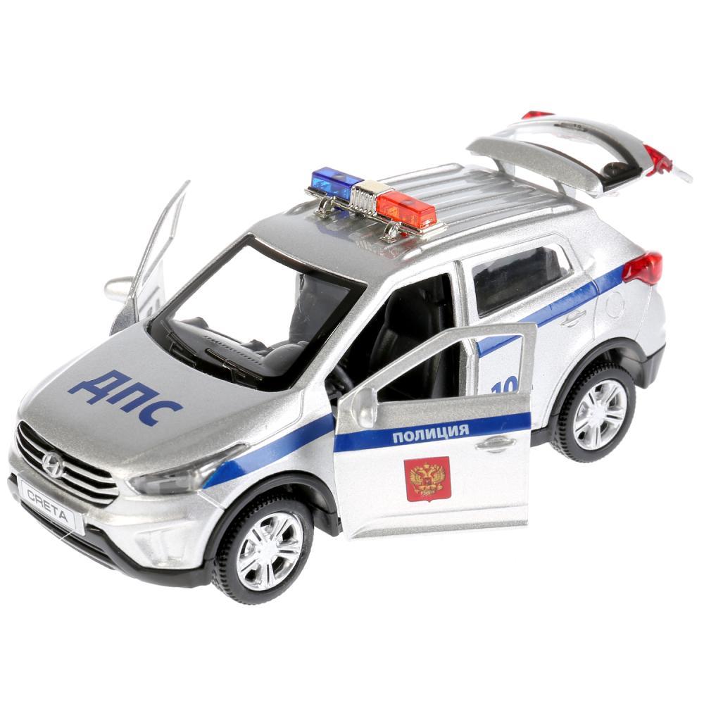 Купить Инерционная машина Hyundai Creta Полиция, металлическая, 12 см, свет-звук, Технопарк