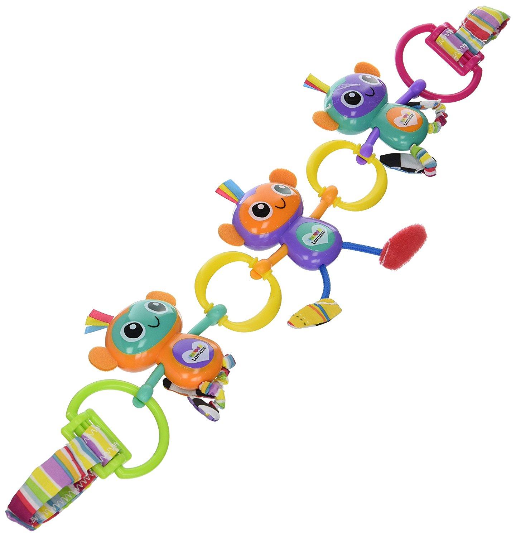 Подвес на коляску - Веселые обезьянкиРазвивающая дуга. Игрушки на коляску и кроватку<br>Подвес на коляску - Веселые обезьянки<br>