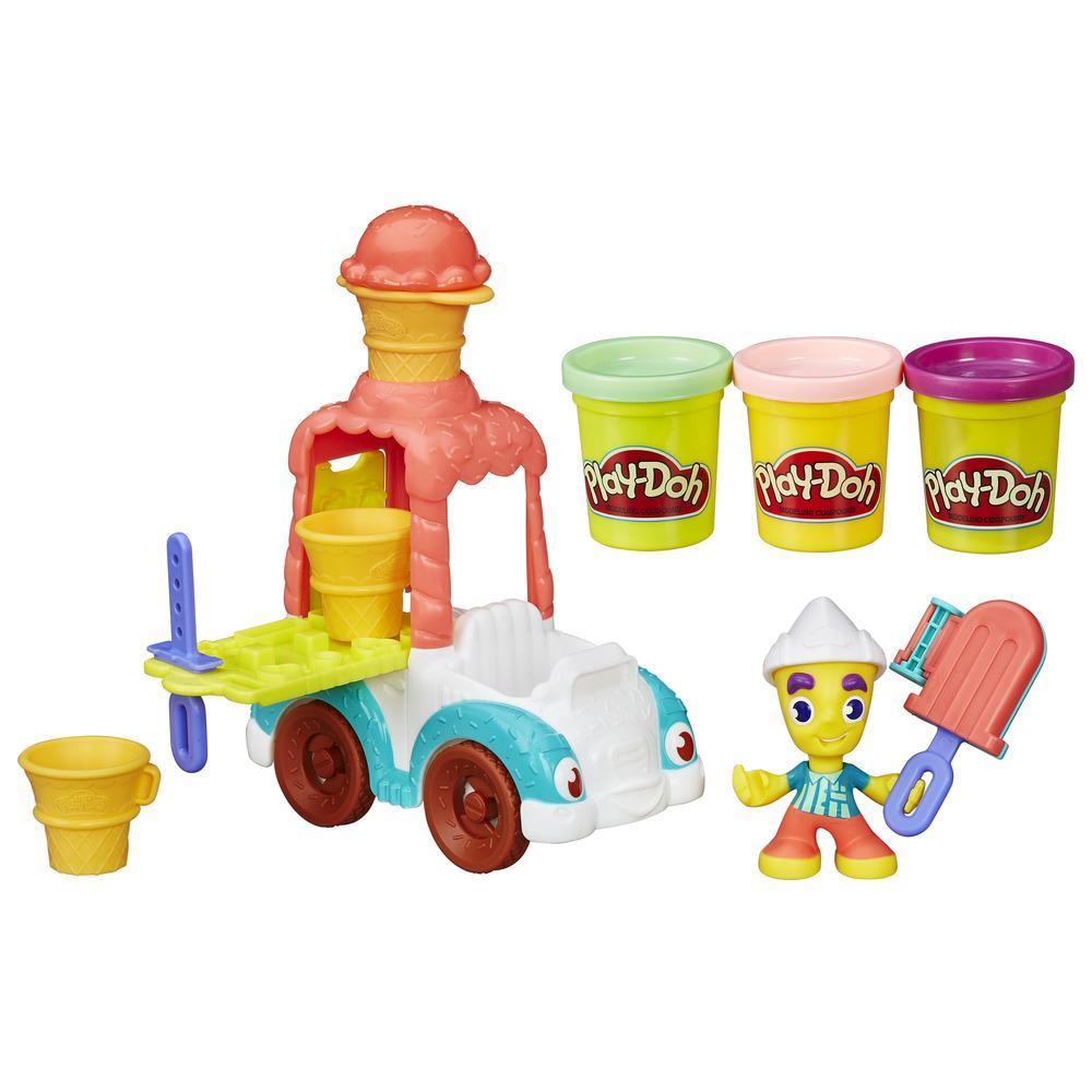 Play-Doh Игровой набор Грузовичок с мороженым из серии ГородПластилин Play-Doh<br>Play-Doh Игровой набор Грузовичок с мороженым из серии Город<br>