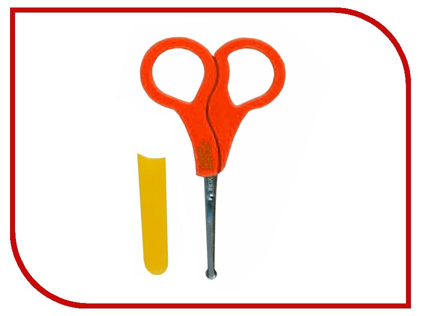 Ножницы безопасные в чехле, от 0 мес., оранжевыепредметы гигиены<br>Ножницы безопасные в чехле, от 0 мес., оранжевые<br>