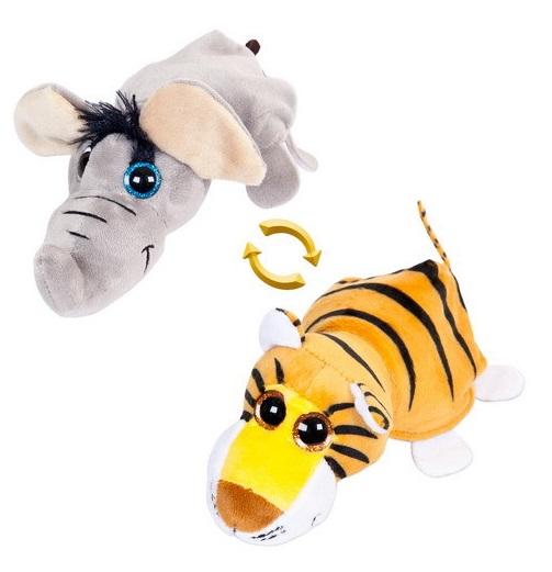 Мягкая игрушка Перевертыши – Слон/Тигр, 16 смДикие животные<br>Мягкая игрушка Перевертыши – Слон/Тигр, 16 см<br>