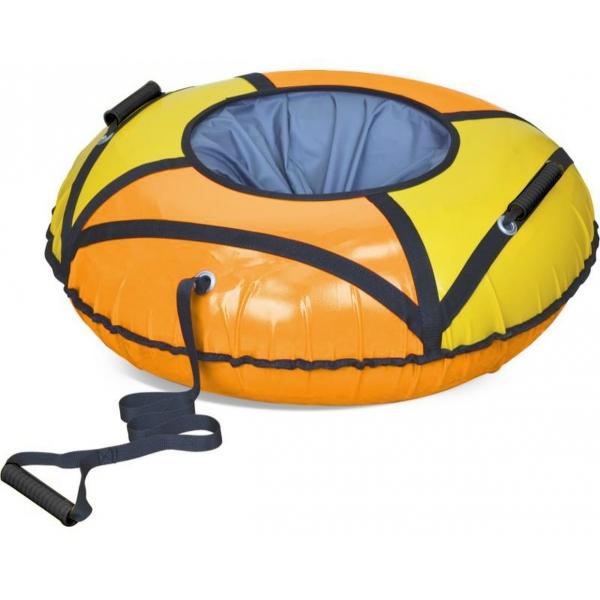 Тюбинг ТБК-700 Эконом, оранжевый/желтый, 78 смВатрушки и ледянки<br>Тюбинг ТБК-700 Эконом, оранжевый/желтый, 78 см<br>