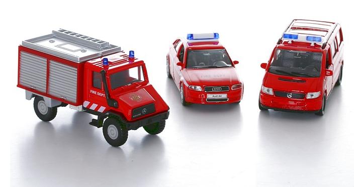 Детский игровой набор Пожарная служба 3 предмета - Пожарные машины, автобусы, вертолеты и др. техника, артикул: 23966