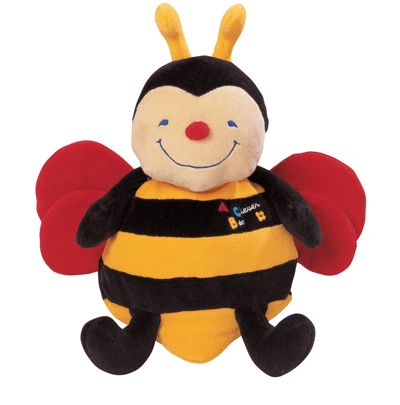 Развивающая музыкальная игрушка-пчелаРазвивающая дуга. Игрушки на коляску и кроватку<br>Развивающая музыкальная пчела игрушка для малышей с рождения до 36 месяцев.<br>Когда малыш будет обнимать эту яркую пчёлку, она будет петь ему детскую песенку.<br>Крылышки пчёлки шуршат, в туловище пчелки и лапки наполнены сыпучим наполнителем, ножки у пчелки...<br>