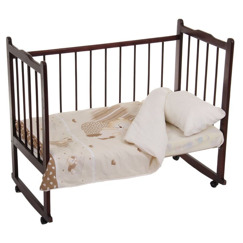 Постельное белье Мишутка, 3 предмета, цвет – бежевыйДетское постельное белье<br>Постельное белье Мишутка, 3 предмета, цвет – бежевый<br>