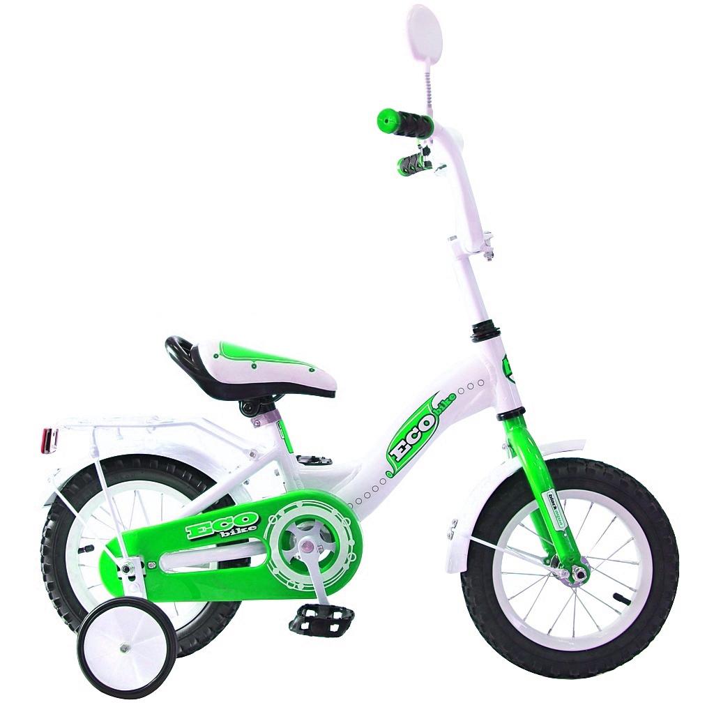 Двухколесный велосипед Aluminium Ecobike, диаметр колес 12 дюймов, зеленыйВелосипеды детские<br>Двухколесный велосипед Aluminium Ecobike, диаметр колес 12 дюймов, зеленый<br>