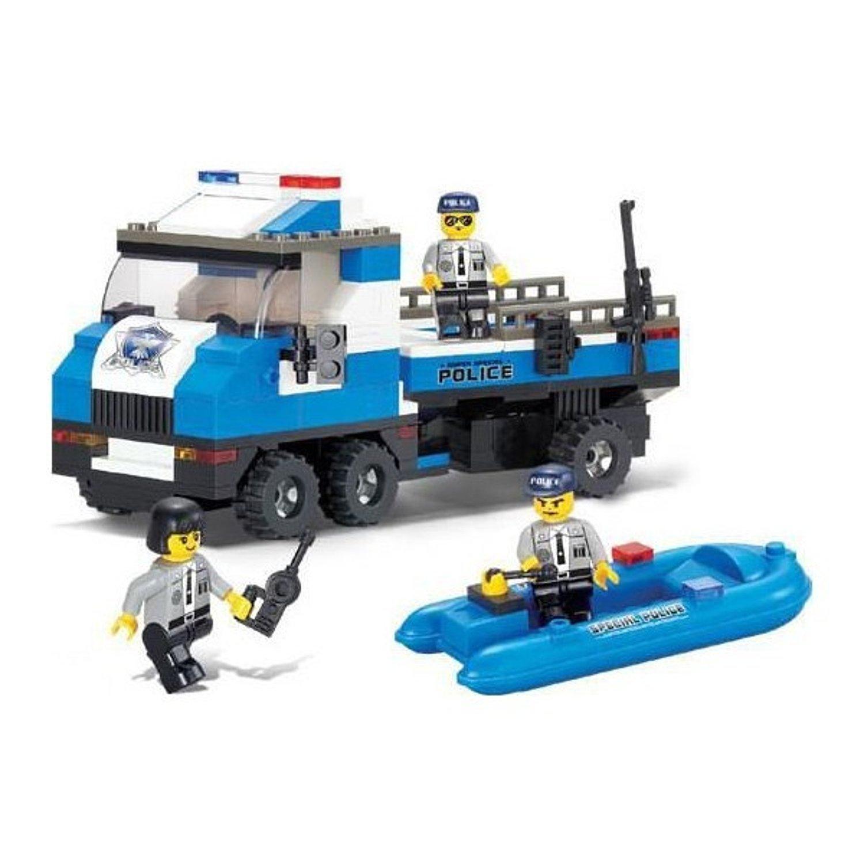 Конструктор – Полиция: полицейский спецназ с фигурками 202 детали.