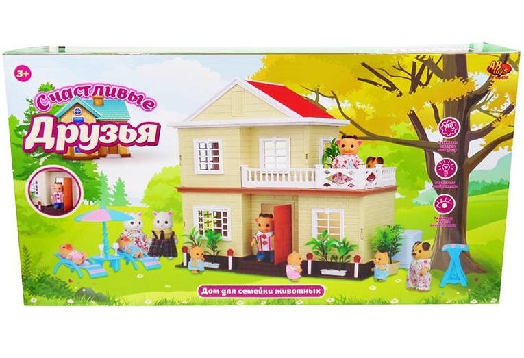 Игровой домик из серии Счастливые друзья, в коробкеКукольные домики<br>Игровой домик из серии Счастливые друзья, в коробке<br>