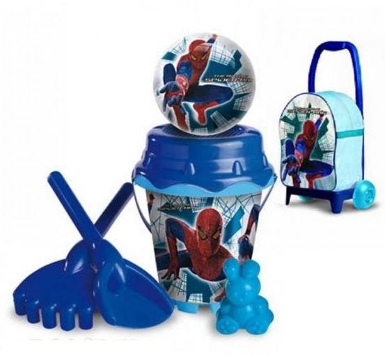 Песочный набор Спайдермен в рюкзаке на колесахВсе для песочницы<br>Песочный набор Спайдермен в рюкзаке на колесах<br>