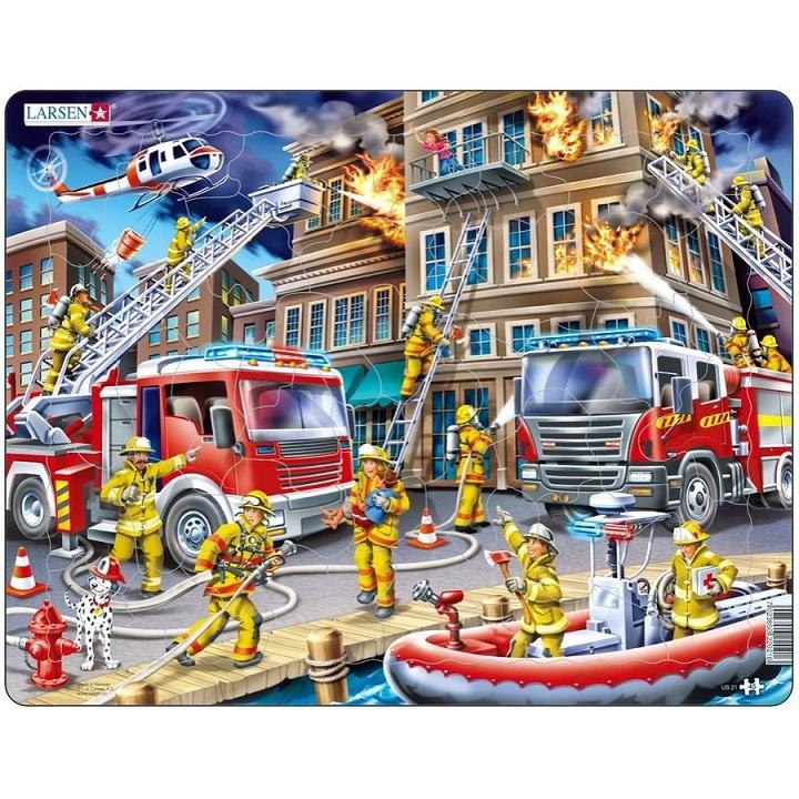 Купить Пазл - Пожарные, Larsen