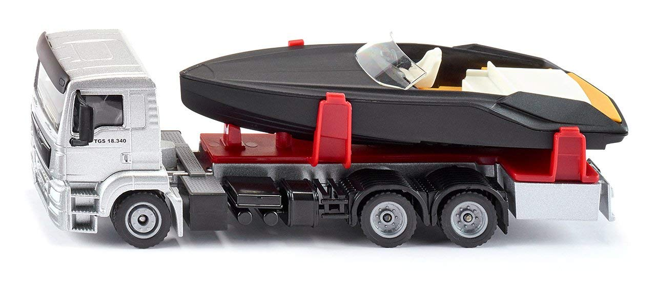 Купить Грузовик Man с моторной лодкой, 1:50, Siku