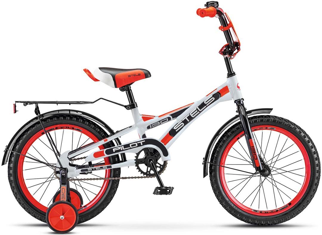 Велосипед Pilot 130 с колесами 16, стальной рамой и багажникомВелосипеды детские<br>Велосипед Pilot 130 с колесами 16, стальной рамой и багажником<br>