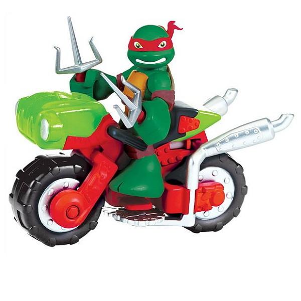 Фигурка Черепашки-ниндзя Раф с мотоциклом, 6 см., серия Half Shell HeroЧерепашки Ниндзя<br>Фигурка Черепашки-ниндзя Раф с мотоциклом, 6 см., серия Half Shell Hero<br>