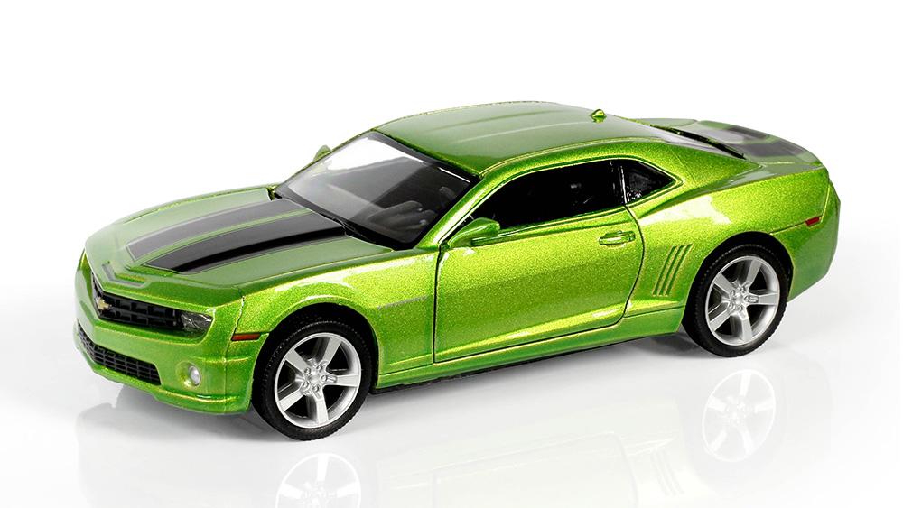 Металлическая инерционная машина RMZ City - Chevrolet Camaro, 1:32, зеленый металликChevrolet<br>Металлическая инерционная машина RMZ City - Chevrolet Camaro, 1:32, зеленый металлик<br>