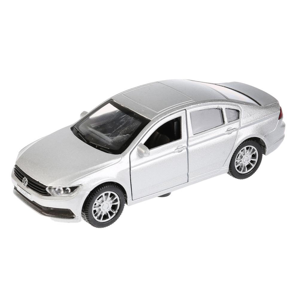 Купить Машина инерционная металлическая - VW Passat, 12 см, цвет серебряный, открываются двери, Технопарк