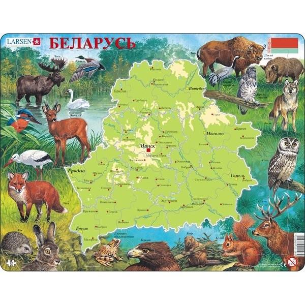 картинка Обучающий пазл – Беларусь, 72 детали от магазина Bebikam.ru