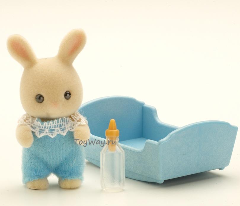 Sylvanian Families - Малыш Молочный КроликСемьи и малыши<br>Sylvanian Families - Малыш Молочный Кролик<br>