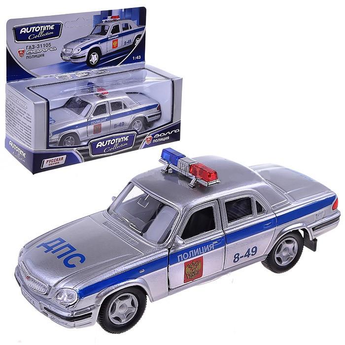 Машинка металлическая Газ-31105 Волга Полиция, 1:43Волга<br>Машинка металлическая Газ-31105 Волга Полиция, 1:43<br>