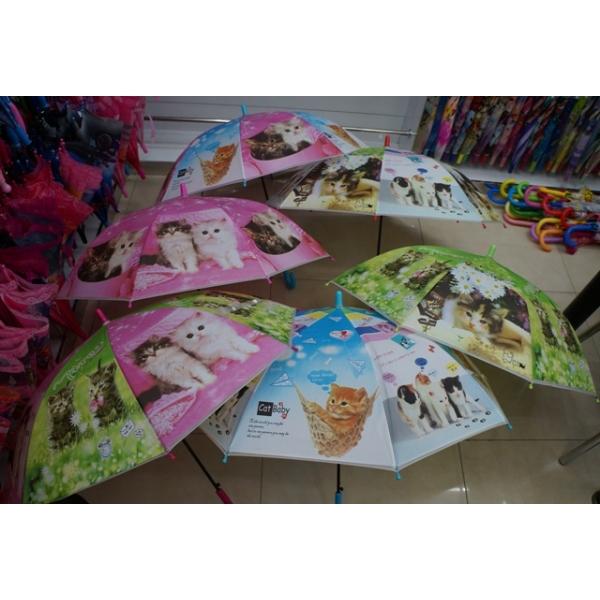 Зонт детский - Питомцы, матовый, 50 смДетские зонты<br>Зонт детский - Питомцы, матовый, 50 см<br>