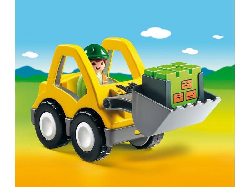 Купить Игровой набор - 1.2.3 - Экскаватор, Playmobil