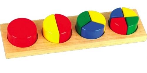Развивающая игрушка - Дроби малые, вариант 1 от Toyway