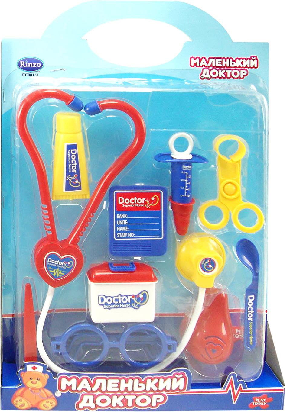 Игровой набор доктора на 10 предметов серии Маленький докторНаборы доктора детские<br>Игровой набор доктора на 10 предметов серии Маленький доктор<br>