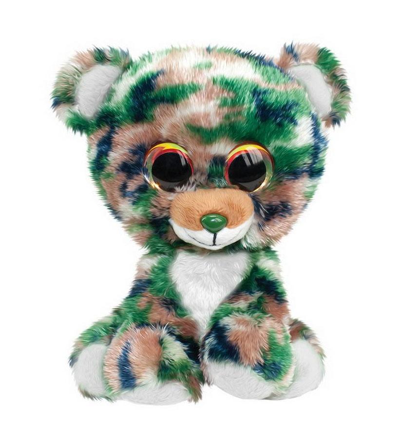 Мягкая игрушка - Мишка Camo, серый, 15 см