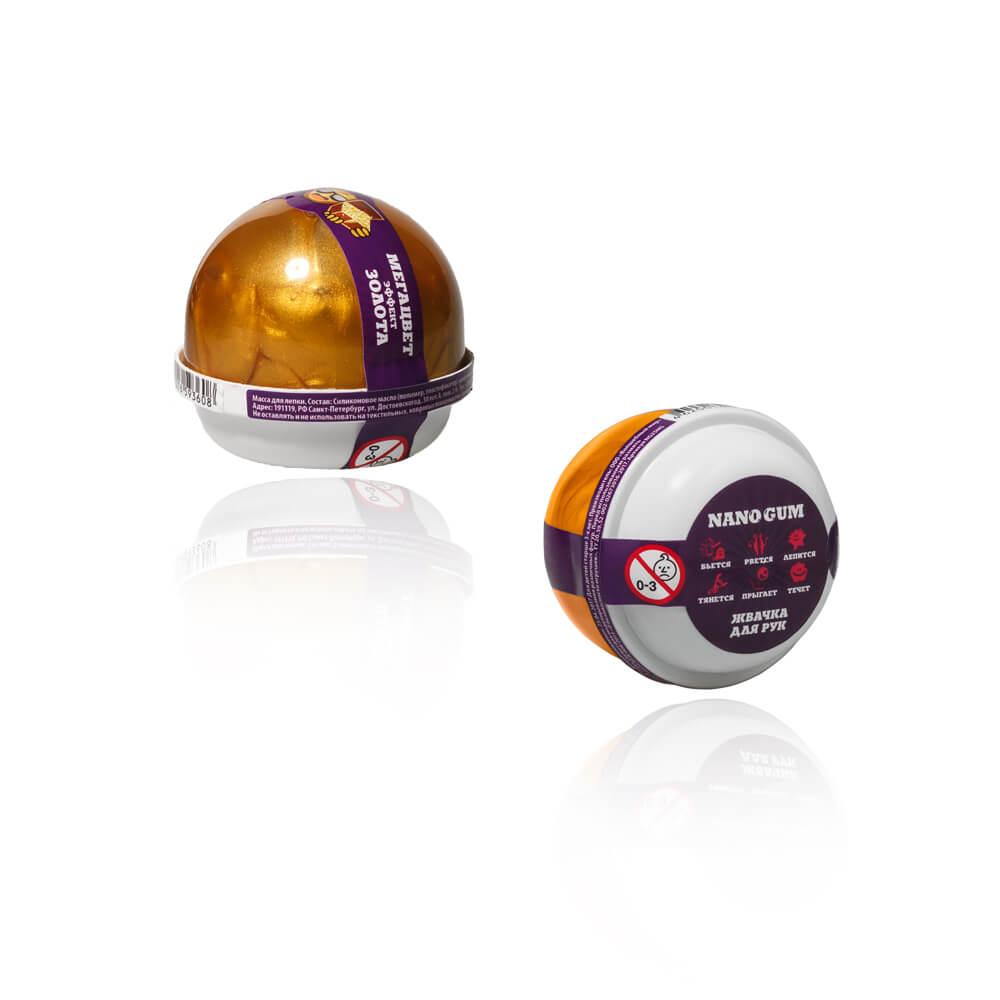 Купить Жвачка для рук - Nano gum, эффект золота, 25 грамм, Фабрика игрушек