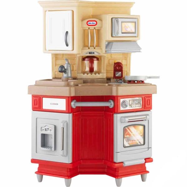 Игрушечная кухня красного цвета со звуковыми эффектамиДетские игровые кухни<br>Игрушечная кухня красного цвета со звуковыми эффектами<br>