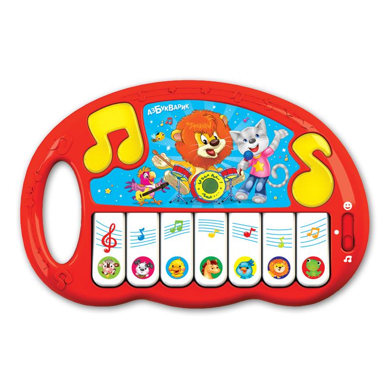 Купить Игрушечное пианино - Волшебные нотки, 20 песенок и мелодий, свет и звук, Азбукварик