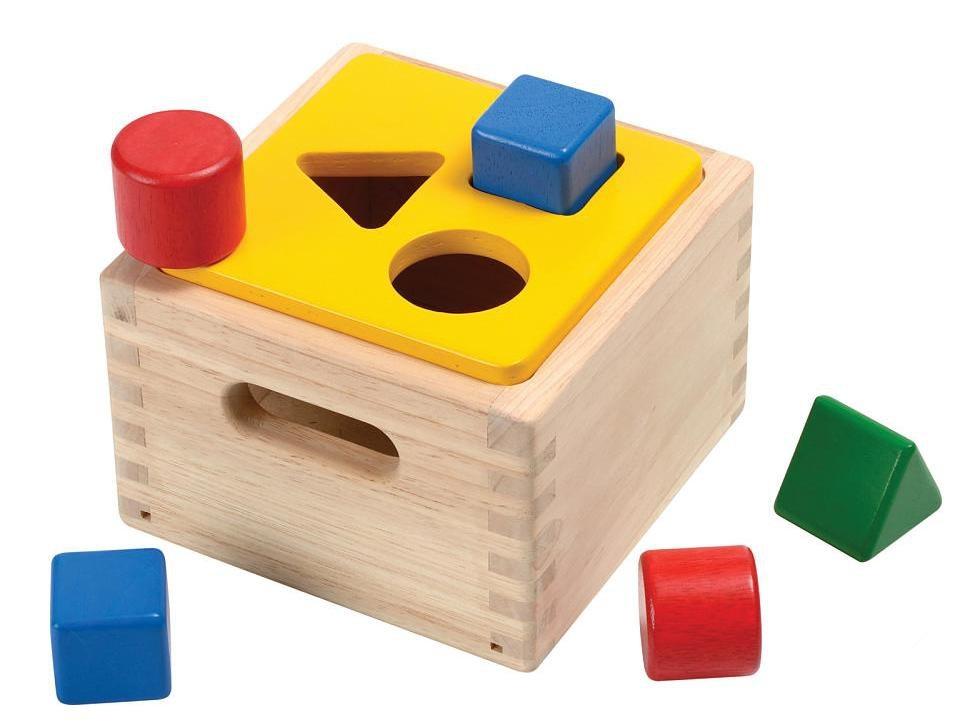 Деревянный куб-сортер геометрических фигурСтучалки и сортеры<br>Деревянный куб-сортер геометрических фигур<br>