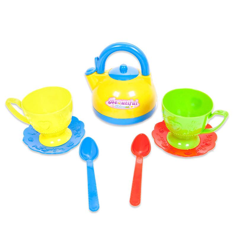 Набор посуды для чаепития из серии Помогаю маме, 7 предметов /WK-B0342)Аксессуары и техника для детской кухни<br>Набор посуды для чаепития из серии Помогаю маме, 7 предметов /WK-B0342)<br>