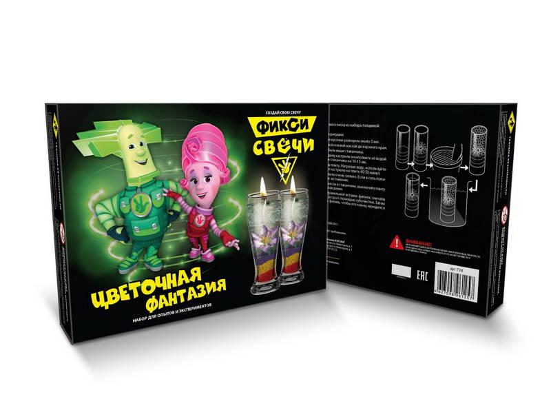 Купить Набор для создания гелевых свечей - Фикси-опыты - Цветочная фантазия, Висма